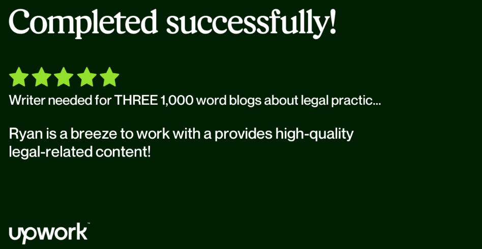 Legal Content Services Upwork Review 1